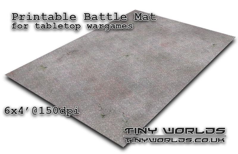 Printable tabletop gaming battle mat - Cobblestone City 041 6x4'
