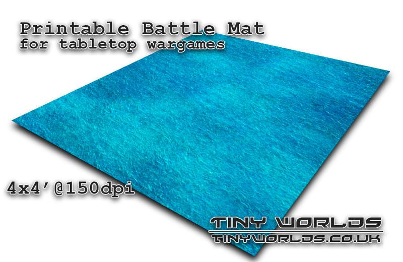 Printable tabletop gaming battle mat - Ocean 071 4x4'