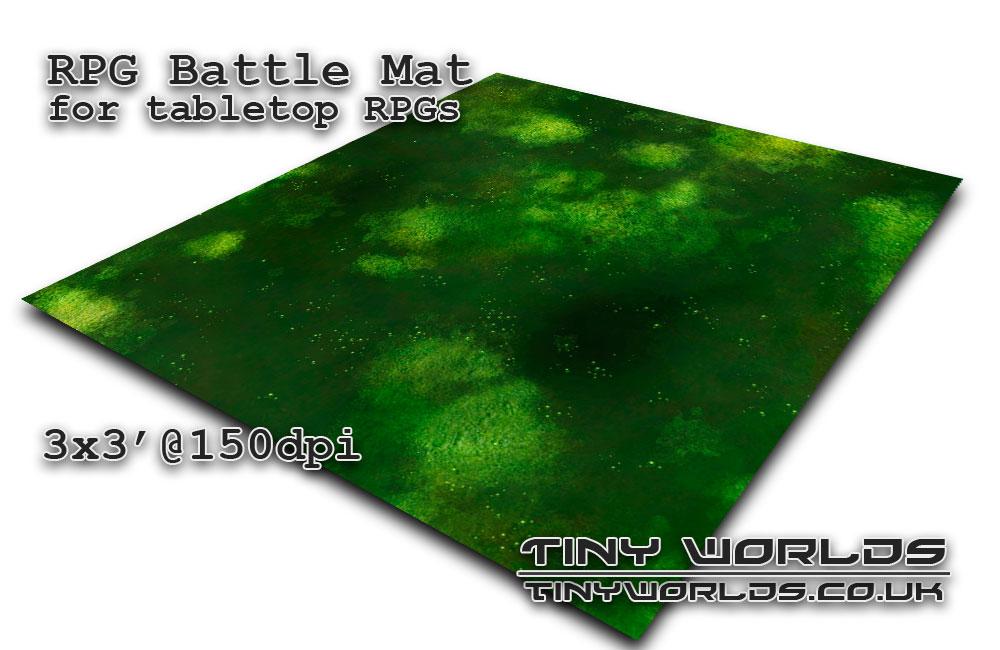 Printable tabletop gaming battle mat - Sump 081c 3x3'