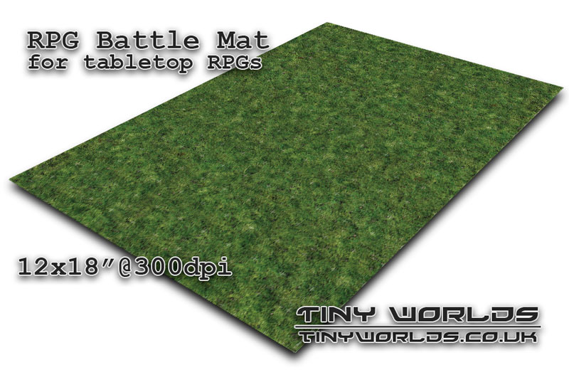 Printable RPG battle mat - Highlands 12x18