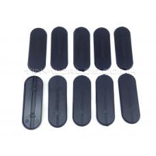 70 x 25mm Oval Black Plastic Bases