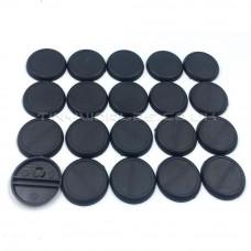 30mm Round Lipped Black Plastic DS Slot Bases