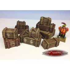 28mm Resin Crates Set - 10 Pieces
