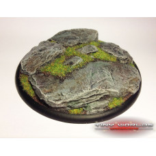 120mm Round Lipped Rock / Slate Scenic Base