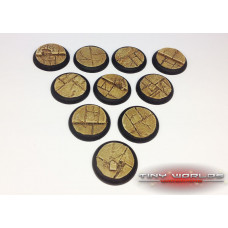 30mm Round Lipped Paved Dungeon Resin Bases