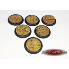 40mm Round Lipped Paved Dungeon Resin Bases