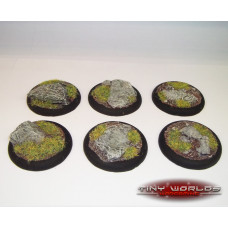 40mm Round Lipped Rock / Slate Resin Bases