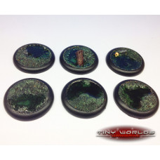 40mm Round Lipped Swamp Water Effects Resin Bases
