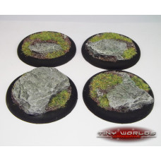 50mm Round Lipped Rock / Slate Resin Bases