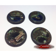 50mm Round Lipped Swamp Water Effects Resin Bases