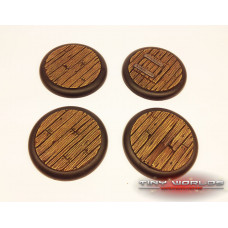 50mm Round Lipped Wooden Plank Resin Bases