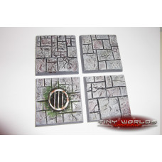 40mm Paved Stone / Dungeon Quest Resin Bases x 4