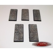 25mm x 50mm Paved Stone / Dungeon Quest Resin Cavalry Bases x 5