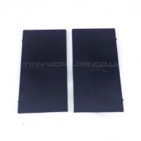 100 x 50mm Rectangle Black Plastic Bases