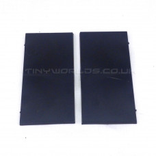 100 x 50mm Rectangle Black Plastic Bases
