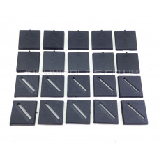 25mm Square Black Plastic Bases