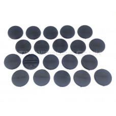 30mm Round Black Plastic Bases