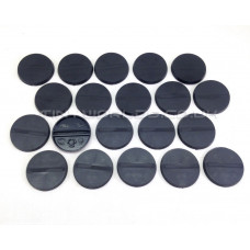 32mm Round Black Plastic Bases