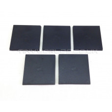 40mm Square Black Plastic Bases