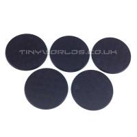 50mm Round Black Plastic Bases