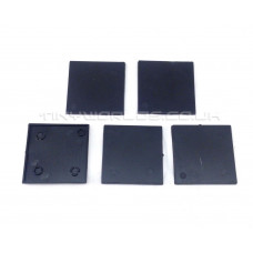 50mm Square Black Plastic Bases