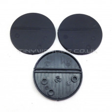 55mm Round Black Plastic Bases