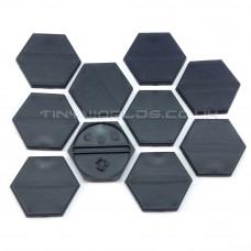 35mm Hexagonal Black Plastic Bases