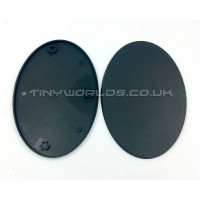 105mm Oval Black Plastic Bases