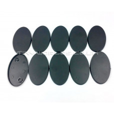 60mm Oval Black Plastic Bases
