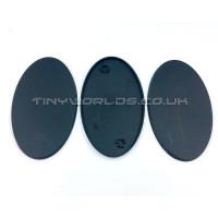 90mm Oval Black Plastic Bases