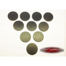 40mm Round Black Plastic Bases