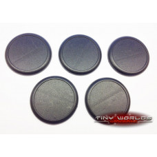 50mm Round Lipped Black Plastic Bases