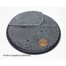 120mm Round Lipped Cobblestone Resin Base