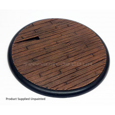 120mm Round Lipped Wooden Plank Resin Base