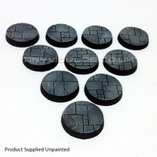 25mm Round Paved Dungeon Resin Bases