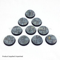 32mm Round Paved Dungeon Resin Bases