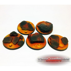 40mm Round Lava Flow Scenic Resin Bases