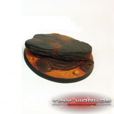 60mm Round Lava Flow Scenic Resin Base B
