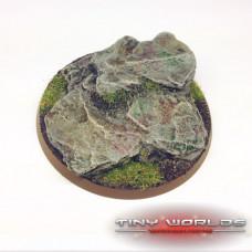 60mm Round Rock / Slate Scenic Resin Base B