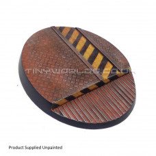 120mm Large Oval Hive City Industrial Resin Base A