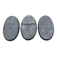 75mm x 46mm Small Oval Paved Dungeon Resin Bases