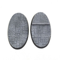 90mm x 52mm Medium Oval Paved Dungeon Resin Bases