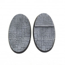 Medium Oval Paved Dungeon Resin Bases 90 x 52mm