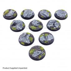32mm Round Rock / Slate Scenic Resin Bases