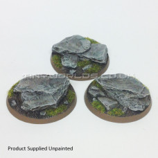 50mm Round Rock / Slate Scenic Resin Bases