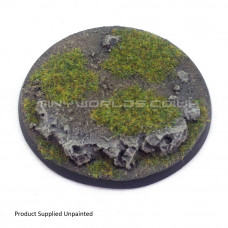 80mm Round Rock / Slate Scenic Resin Base