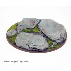 120mm x 90mm Large Oval Rock/Slate Resin Base