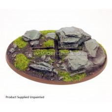 120mm x 90mm Large Oval Rock/Slate Resin Base - Flyer