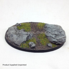 105mm x 70mm Medium Oval Rock / Slate Resin Base - B