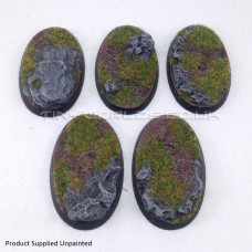 Small Oval Rock / Slate Resin Cavalry Bases 60 x 35mm